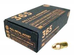 Sig Sauer P365 9mm 115 Gr Elite Ball FMJ 50Rd Box